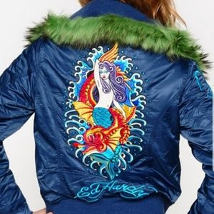 Ed Hardy Mermaid Puffer Jacket